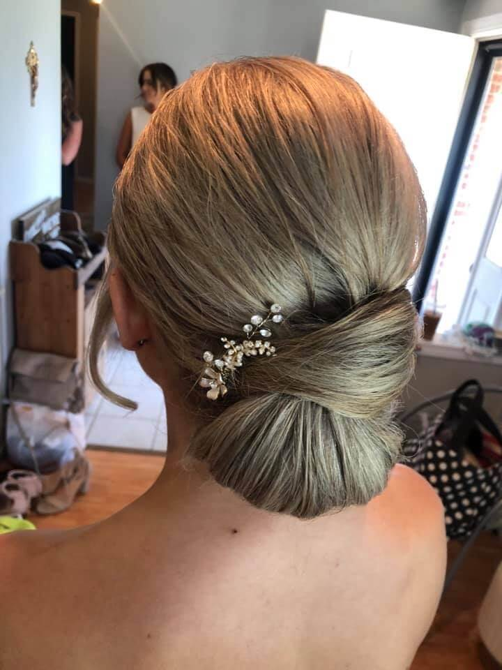 simple elegant updo